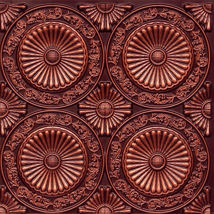 decorative ceiling tiles inc store paisley daisies faux tin ceiling tile - Copper Ceiling Tiles
