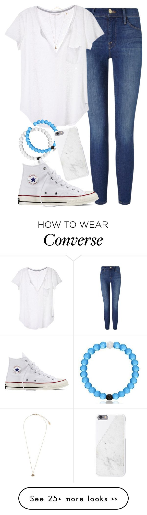 """""""No Frills"""" by red-velvet-n-pearls on Polyvore featuring Frame Denim, Victoria's Secret, Topshop, Converse and Native Union"""