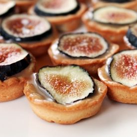 Salted Caramel & Fig Mini Tarts