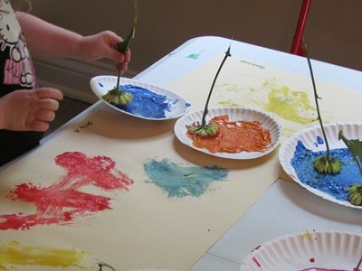 flower painting preschool - Preschool Painting Games
