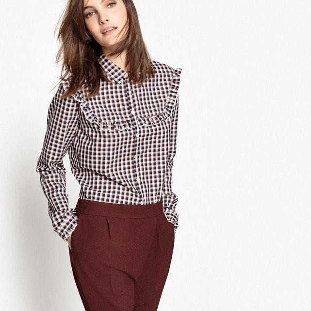 Image Checked Cotton Mix Shirt R édition