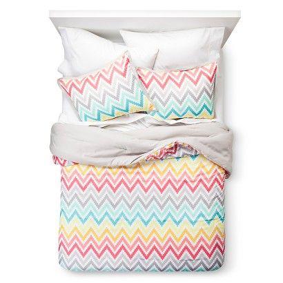 Xhilaration® Printed Chevron Comforter Set - Pink
