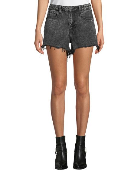 bd12d58e090 T BY ALEXANDER WANG BITE HIGH-RISE CUTOFF DENIM SHORTS.  tbyalexanderwang   cloth