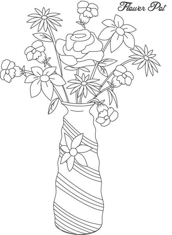 Floreros 22 Dibujos Faciles Para Dibujar Para Ninos Colorear Blumen Vase Blumenvase Ausmalbilder