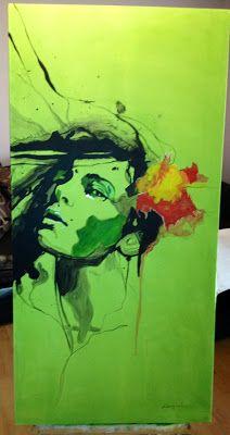 Art by Csaba Konyicska: Sentiment verde