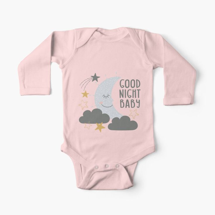 Good Night Baby Kids Clothes By Tlcreate Good Night Baby Baby Onesies Baby Kids Clothes
