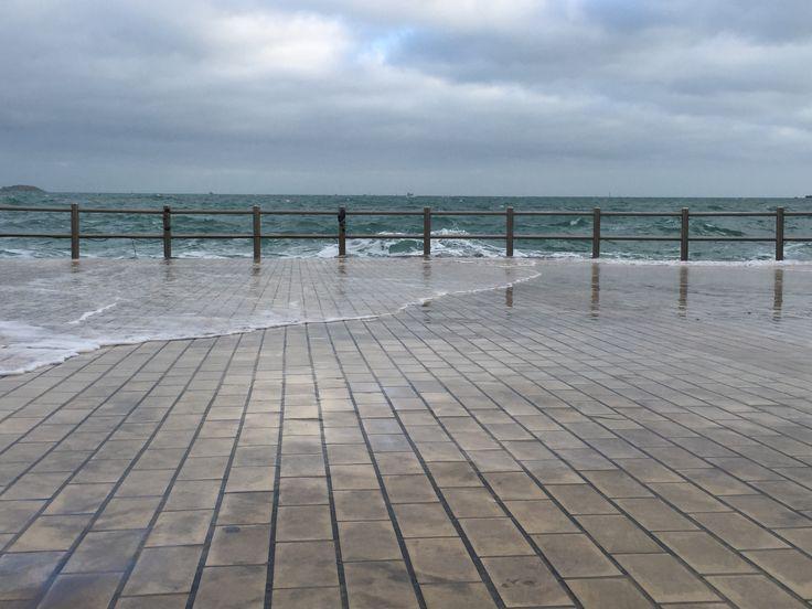 Grande marée Dinard. Mars 2015.