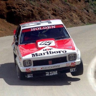 Holden Torana, the legend Peter Brock in action in 05 on mt Panorama, doesnt get any better
