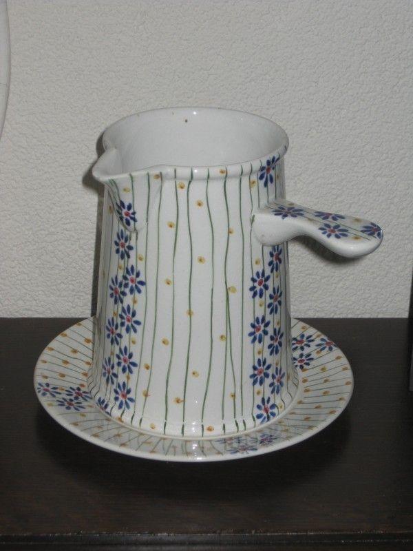 Apart Boerenbont Societe Ceramique decor Bussum Stroopkan+onderbord