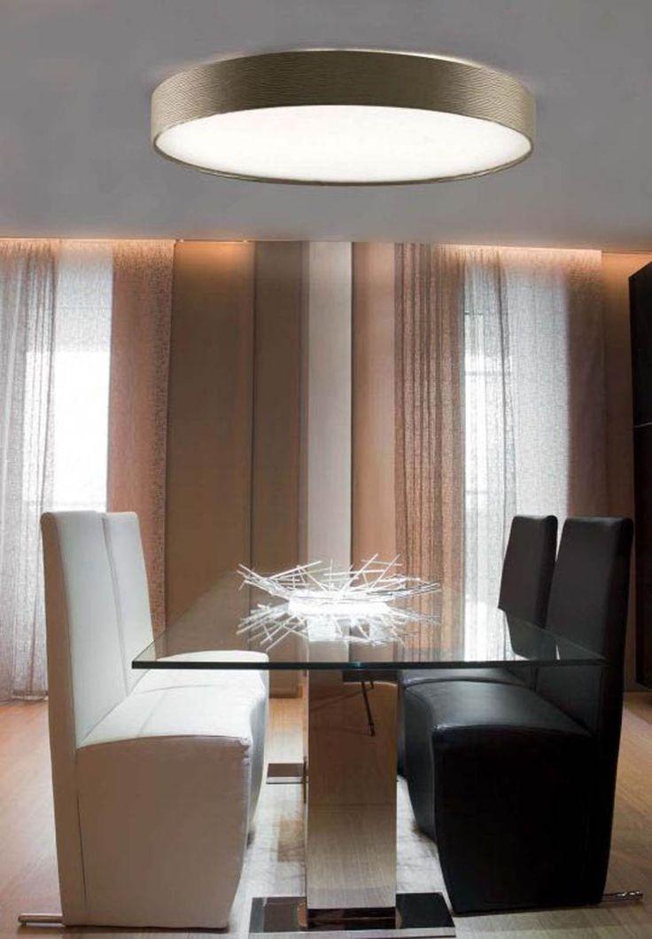 Plafones modernos de techo modelo slim iluminacion - Plafones de pared ...