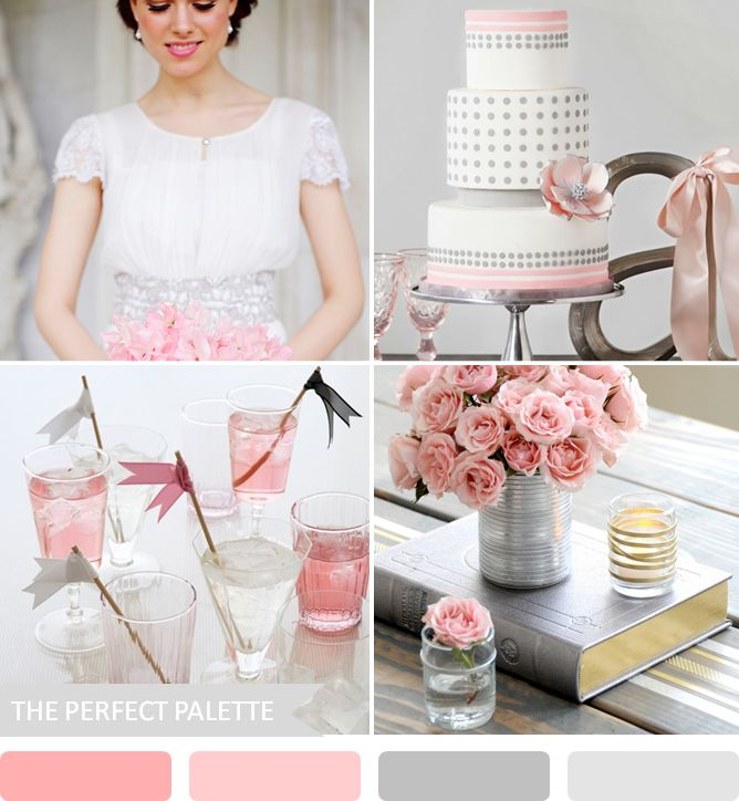 Party Palette | Shades of Pink + Gray! http://www.theperfectpalette.com/2013/04/party-palette-shades-of-pink-gray.html