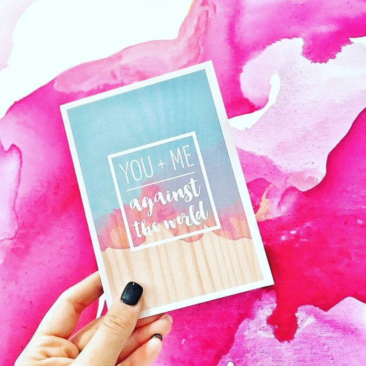 YOU + ME - against the world. Valentines Day Greeting Card by MediaFreedom on Etsy