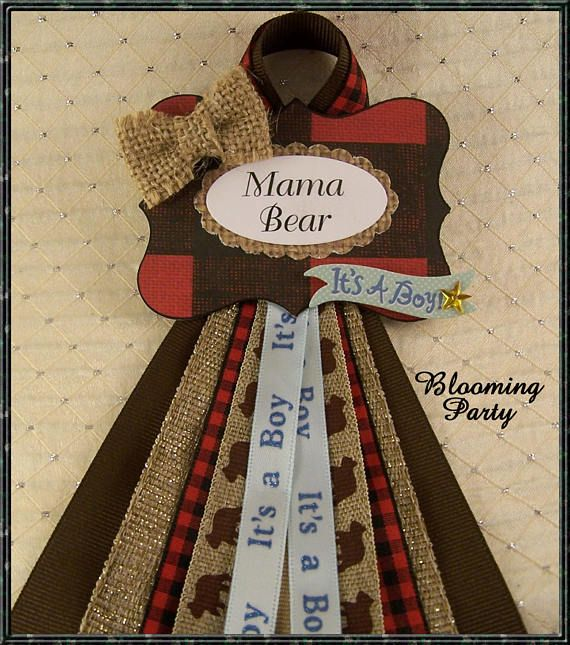 Mama Bear Corsage Lumberjack Baby Shower Corsages Wilderness