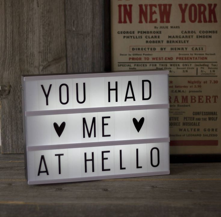 A4 Customisable Cinema Lightbox.Create your own personalised messages and quotes with this fabulous A4 lightboxes.