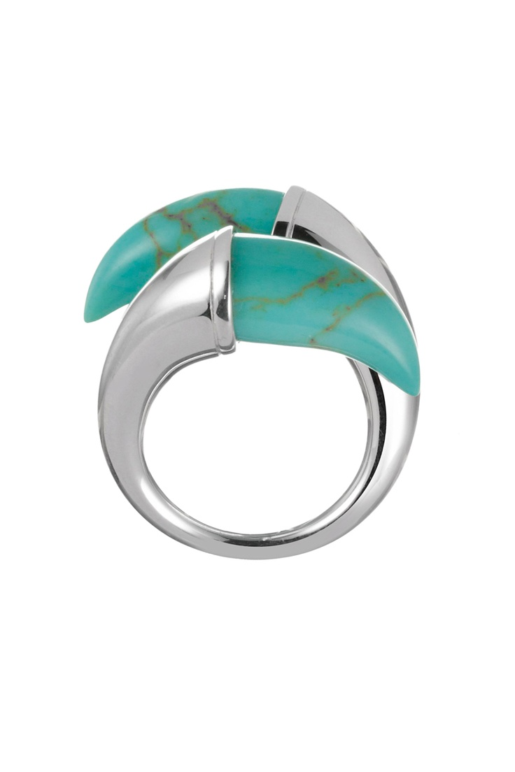 Online sale Clio Blue / 8842 / Ringen / Zilveren Ring Zilverkleurig en Turquoise