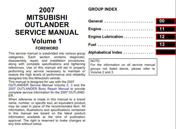 New Post Mitsubishi Outlander 2007 Service Manual Volume 1 2 3 Has Been Published On Procarmanuals Com Https Mitsubishi Outlander Mitsubishi Outlander