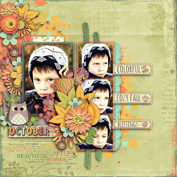 Capturing Life: October Designs by Blagovesta  template Jumpstart Designs by Sheri freebie