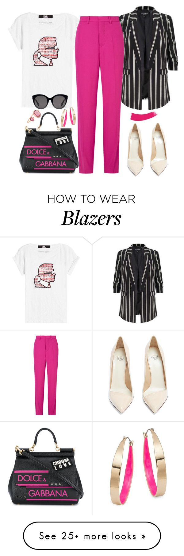 """""""Untitled #229"""" by giotibi on Polyvore featuring Karl Lagerfeld, Miss Selfridge, Marni, Dolce&Gabbana, Gucci, Pascale Monvoisin, Design Lab, Francesco Russo, contestentry and NYFWHotPink"""