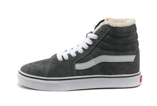 3bec83a926 Classic VANS Sk8 High Off the Wall Grey Suede Pappus Inside Winter  Skateboard Sneakers  S4122507  -  39.99   Vans Shop