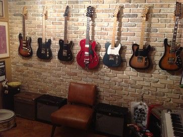 Man Cave With Brick Wall : Best mancave ideas images music rooms guitar
