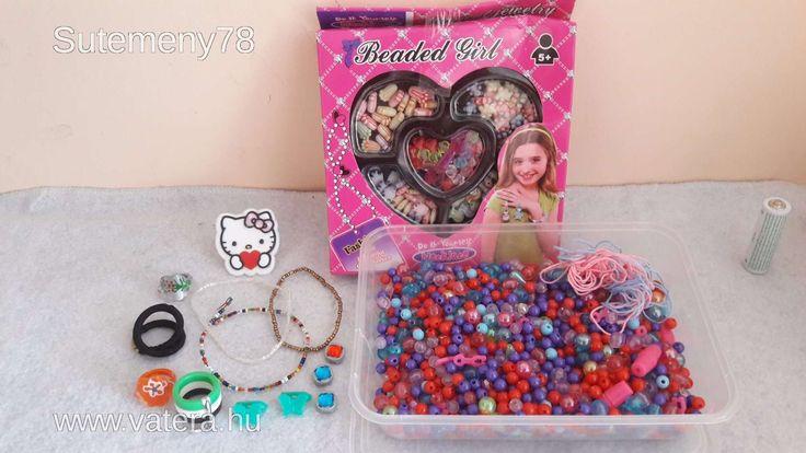 BS Játék - Gyöngyök , Gyöngykészlet, Hello Kitty gyűrű és még egy két kislánynak való apróság - 600 Ft - Nézd meg Te is Vaterán - Gyöngy, ékszerkészítés - http://www.vatera.hu/item/view/?cod=2508577817