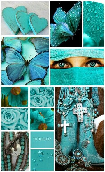 Turquoise, color of energy. By Manuela van der Werf