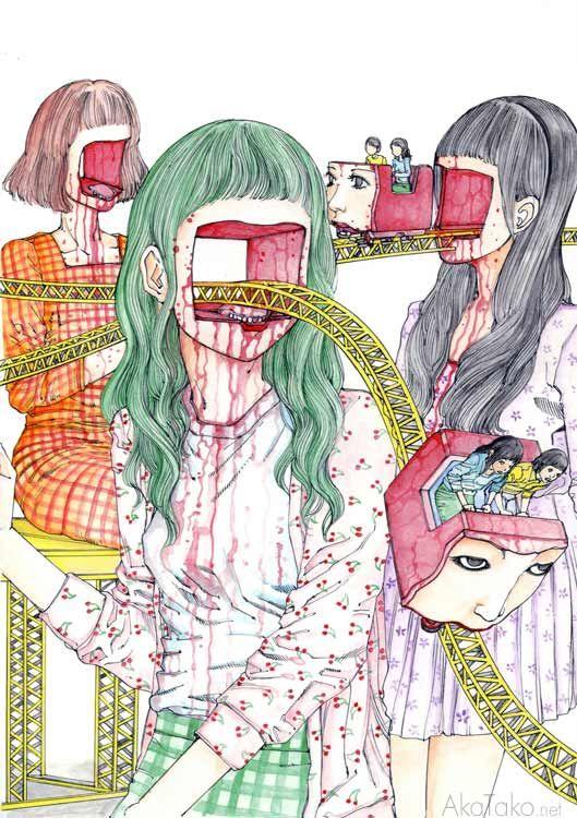 """From """"Giant Girl Expo"""" by Shintaro Kago"""
