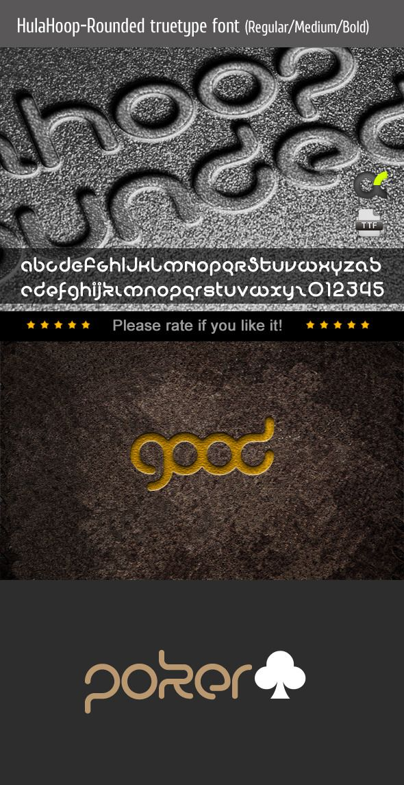 HulaHoopRounded TrueType Font — TrueType TTF #truetype #popular • Available here → https://graphicriver.net/item/hulahooprounded-truetype-font/8537557?ref=pxcr