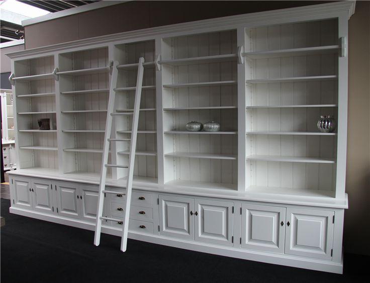 Maatwerk Bibliotheekkast. Leverbaar In Iedere Gewenste Maat, Model En Kleur. Bibliotheekkast Maatwerk 480cm RAL 9010