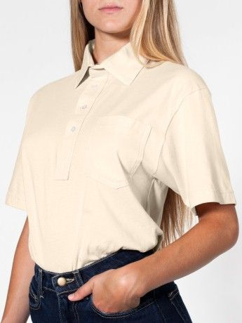 Unisex Organic Fine Jersey Short Sleeve Leisure Shirt.