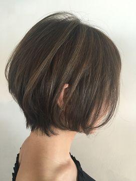 2016秋冬【andrey】グレージュハイライトショートボブ - 24時間いつでもWEB予約OK!ヘアスタイル10万点以上掲載!お気に入りの髪型、人気のヘアスタイルを探すならKirei Style[キレイスタイル]で。