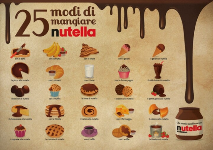 Nutella always and more...: Di Nutella, Comer Nutella, Eating Nutella, Nutella Infographic, Amazing Food, Nutella Time, Things Nutella, Food Recipe, 25 Food