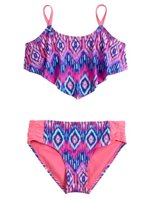 Tribal Flounce Bikini Swimsuit | Girls Swimsuits Swim | Shop Justice