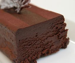 I love Chocolate terrine!! It's like chocolate mousse only more dense and rich and wonderful!!