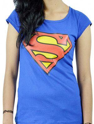 Playera de Superman para Mujer en Azul Rey. Si quieres ver mas productos de #DCcomics, checa nuestro link donde tenemos los mejores modelos listos para ti con envíos a todo #Mexico.