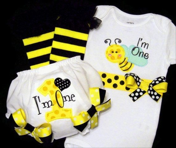 pink bumble bee birthday ideas | Bumble Bee First Birthday Girl Outfit Im One Baby birthday-party-ideas