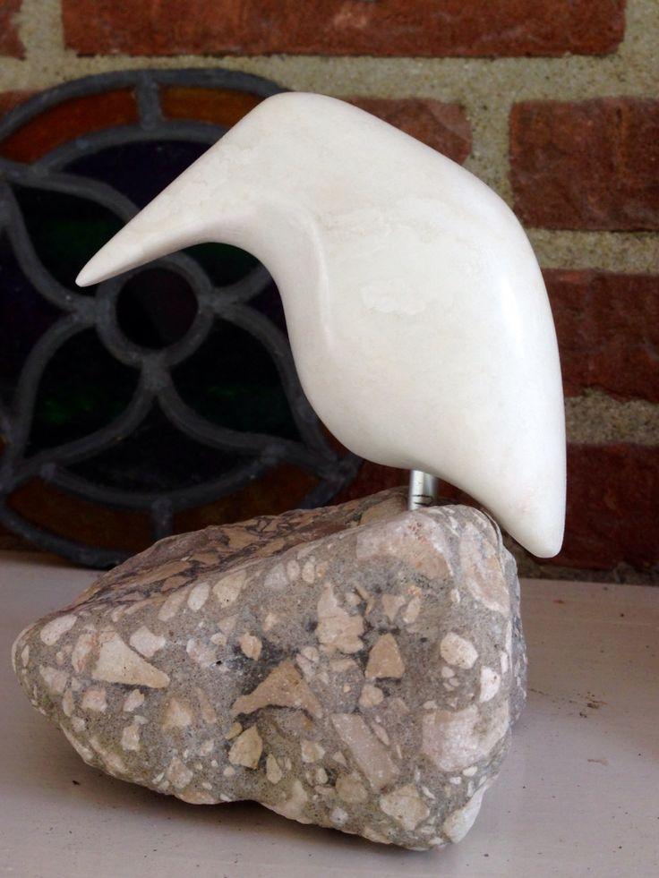 IJsvogeltje van wit speksteen