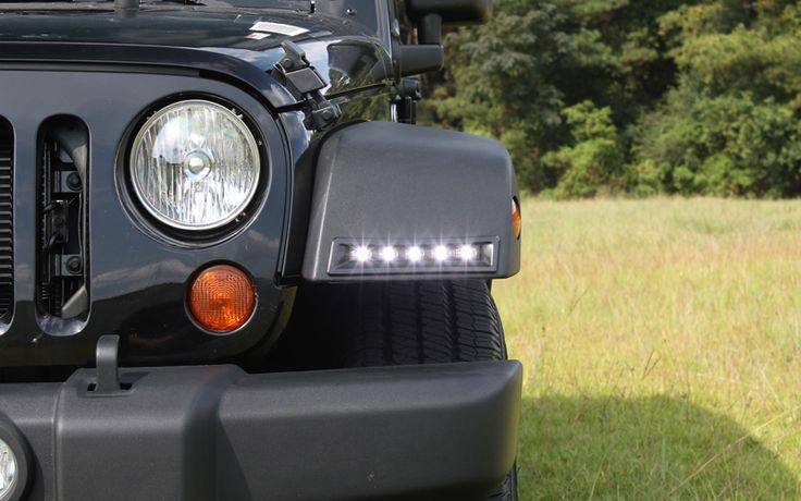 LED daytime running lamp system for the 2007-2015 Jeep Wrangler JK front fender flares