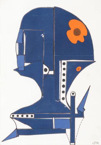 Janoušková Věra (1922-2010)   Hlava, 1992   Aukce obrazů, starožitností   Aukční dům Sýpka