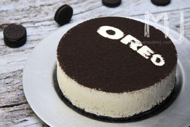 """Tarta de queso OREO """"sin hornear"""" / Cheesecake OREO """"no baked"""""""