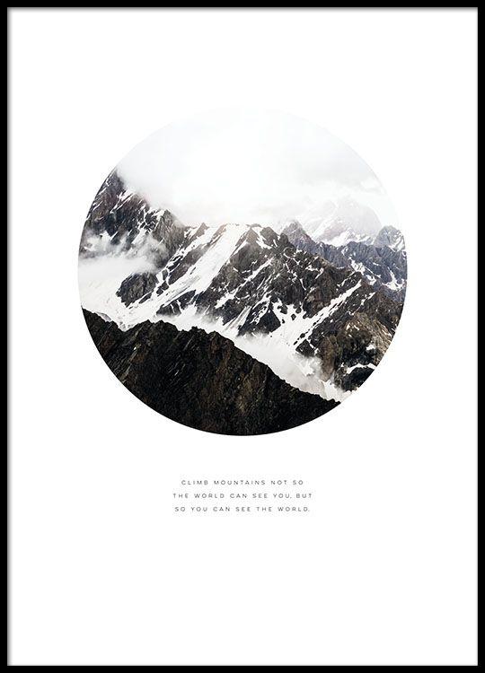 Nice typography print of nature