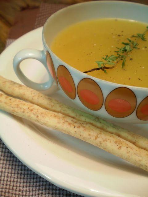 Sopa de Mandioquinha com Gengibre   Figos & Funghis