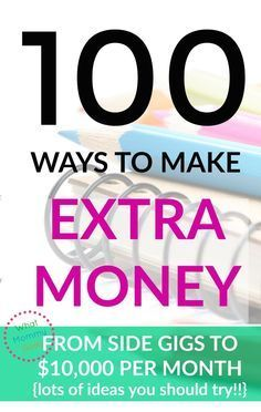 I need to see lots of examples before I make a decision. If I could make $500 to $1000 monthly with a home business, I'd be in Heaven! I'm really digging this list of ways to make extra money!! | Here are 100+ different ways to make extra each month for your family. Some are easy money making ideas and some are for real business ideas! Either way, you'll get ideas for lots of ways you could earn some money. | earn extra cash, side gig, work from home, college students and moms too