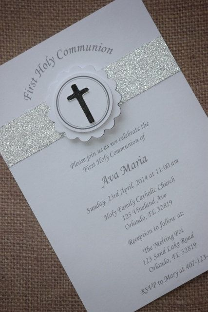 1x First Holy Communion/Baptism Invitations by MyPrettyLittleParty, $2.00
