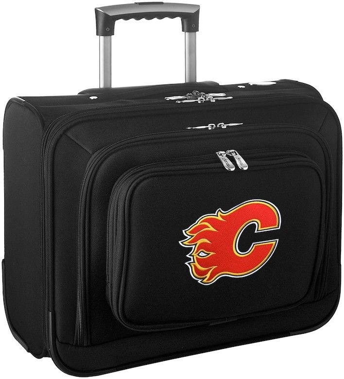 Denco Sports Luggage Calgary Flames 16-in. Laptop Wheeled Business Case