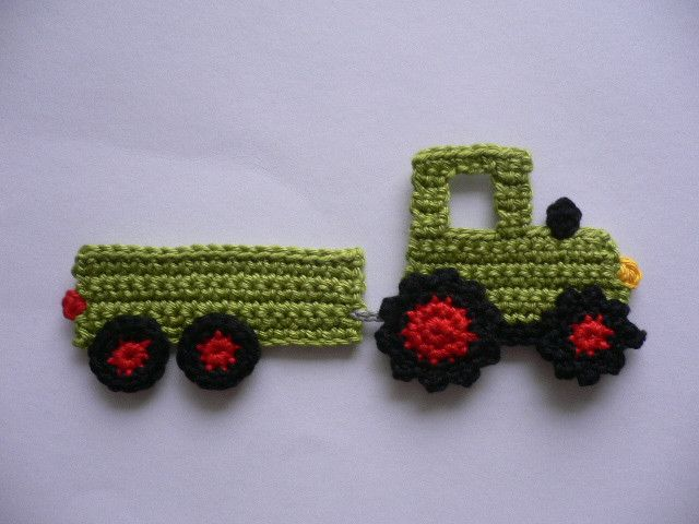 CROCHET TRACTOR WITH TRAILER                                                                                                                                                      More