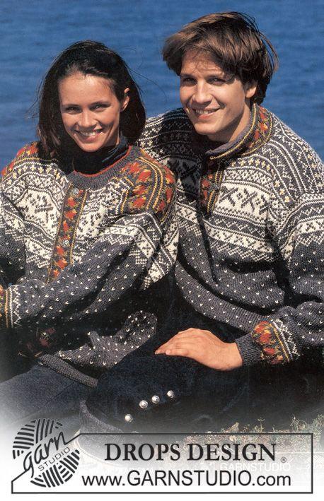 DROPS herresweater i Karisma med nordisk Rose-Bort ~ DROPS Design