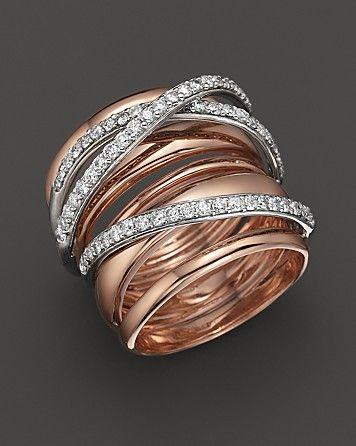Diamond Ring in 14K Rose Gold, .80 ct. t.w.