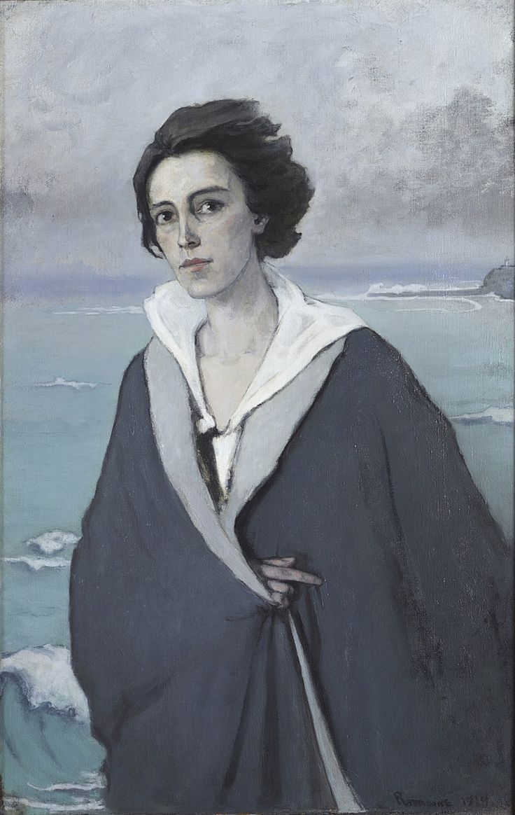 Romaine Brooks, Au Bord de la Mer (Self-Portrait), 1914, oil on canvas, 105 x 68 cm, (Musée National d'Art Moderne Centre Georges Pompidou, Paris)