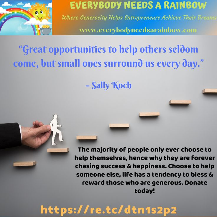 """""""Great opportunities to help others seldom come, but small"""